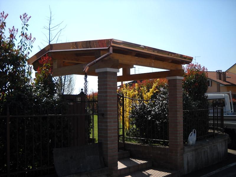 Copertura in legno ingresso pedonale   Coperture edili e tetti